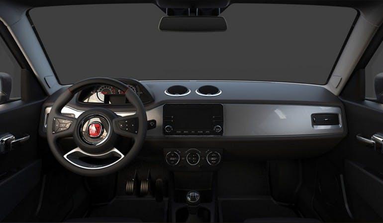 Volante e cruscotto della Fiat 127