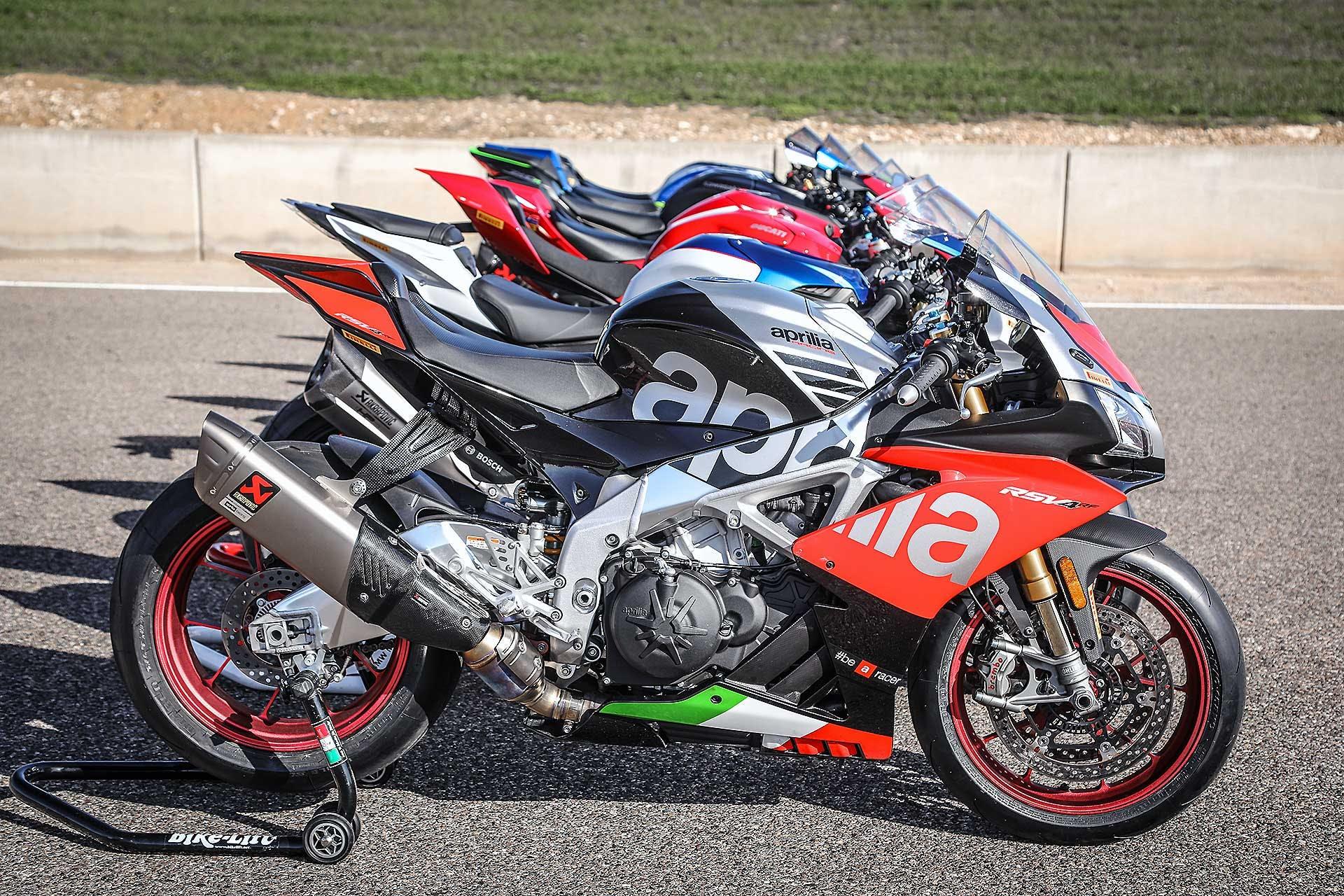 Comparativa 1000 SBK 2018 con Aprilia come prima moto