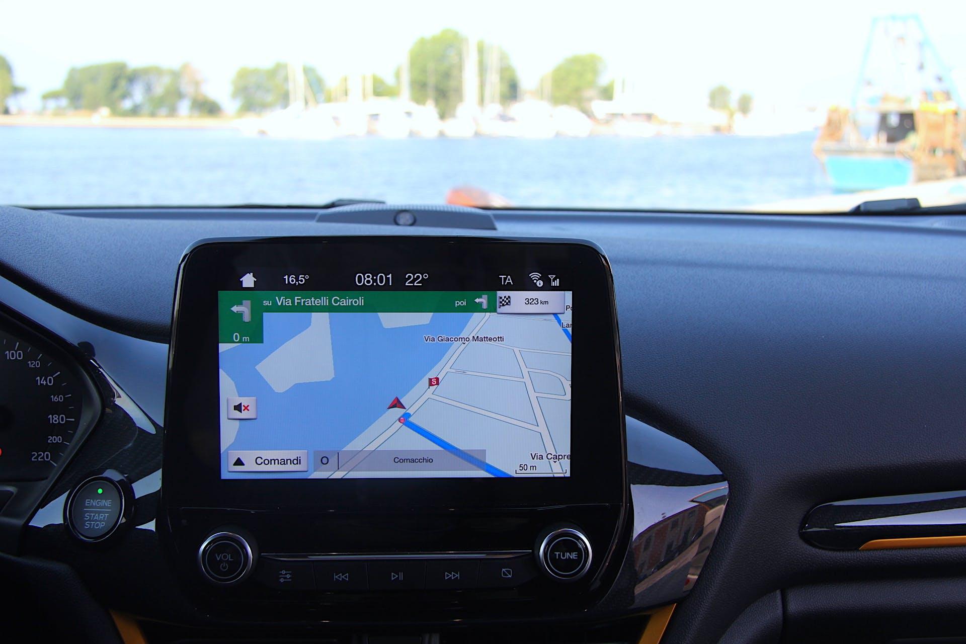 GPS della Ford Fiesta Active