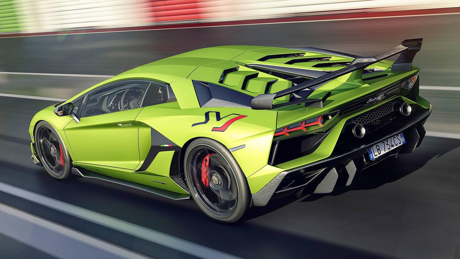 Lamborghini Aventador SVJ, 3/4 posteriore