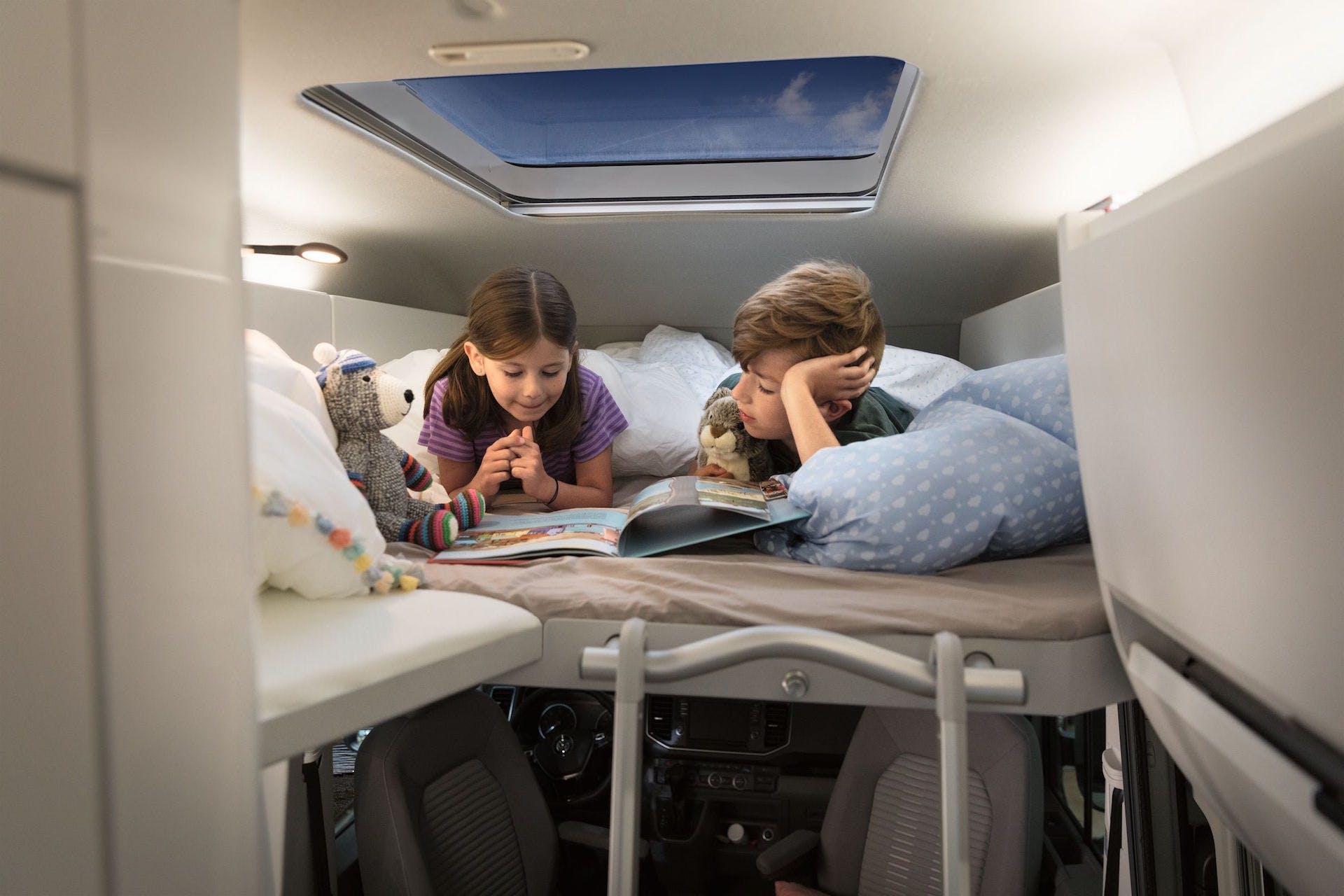 Volkswagen Grand California, letto bimbi