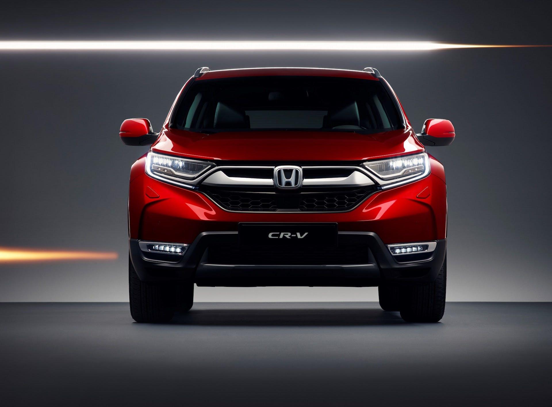 Honda CR-V frontale rosso