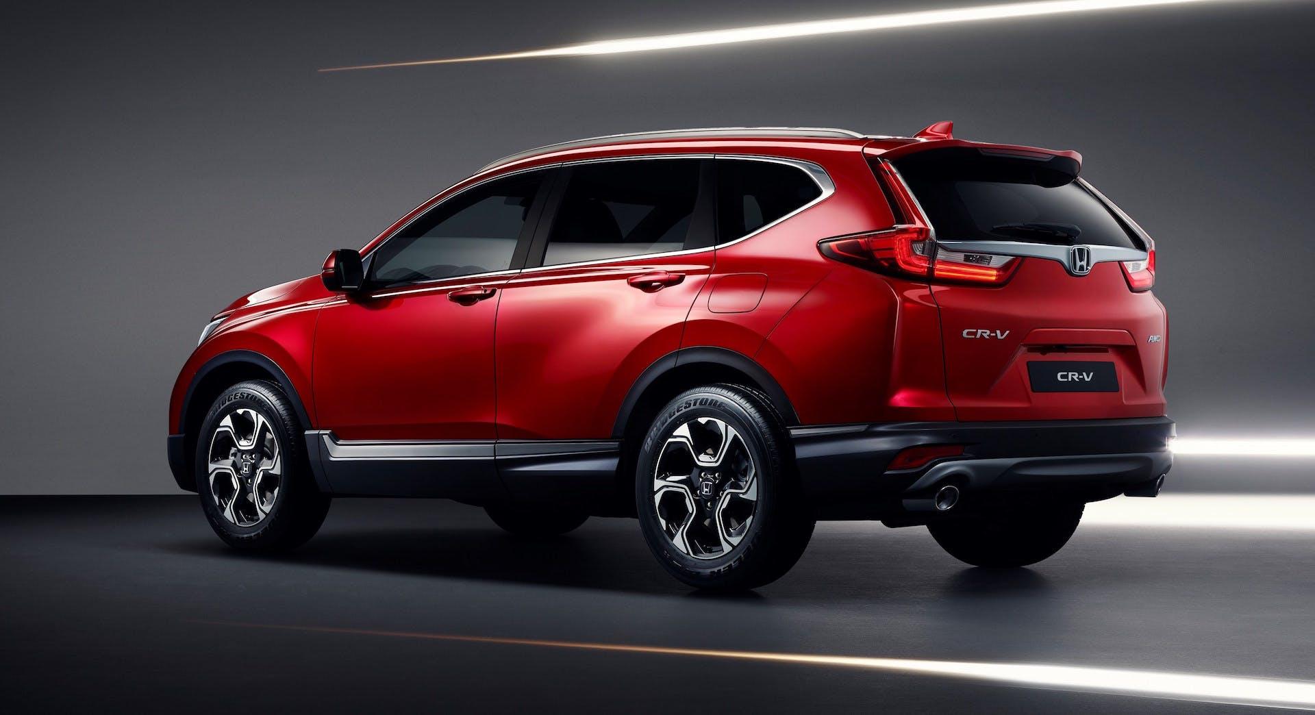 Honda CR-V rosso laterale statica