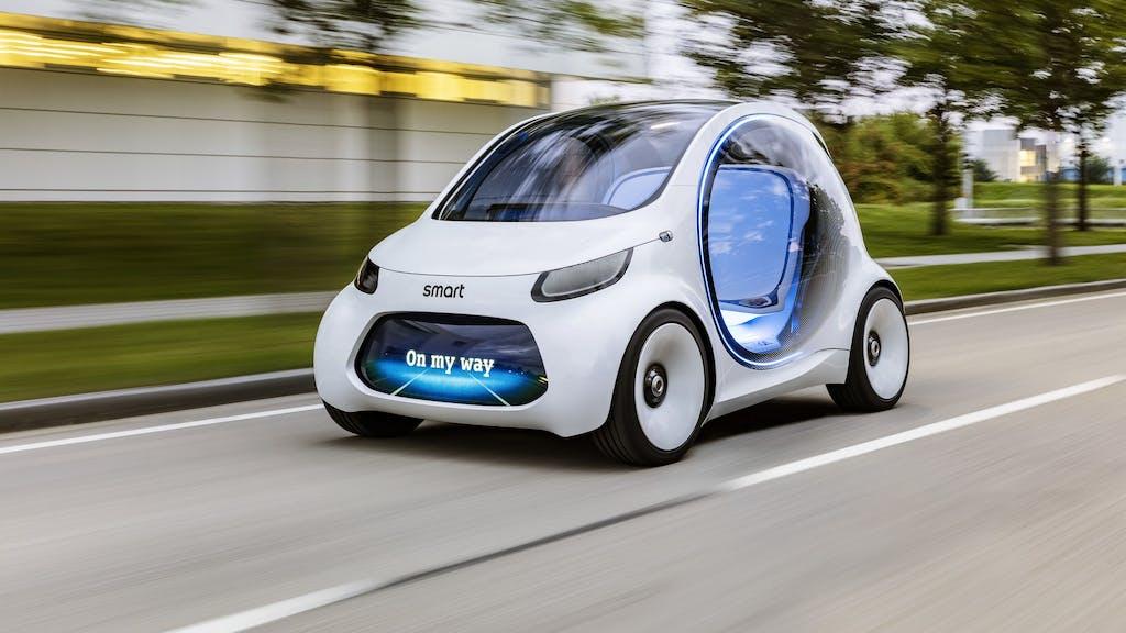 Smart Vision EQ fortwo: autonoma per il car sharing