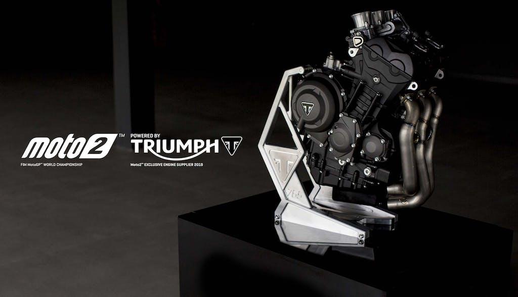 Triumph, la Moto2 avrà tre cilindri
