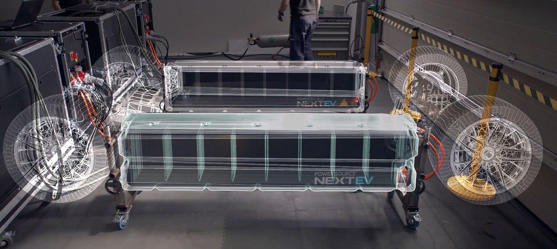Nio EP9 powertrain