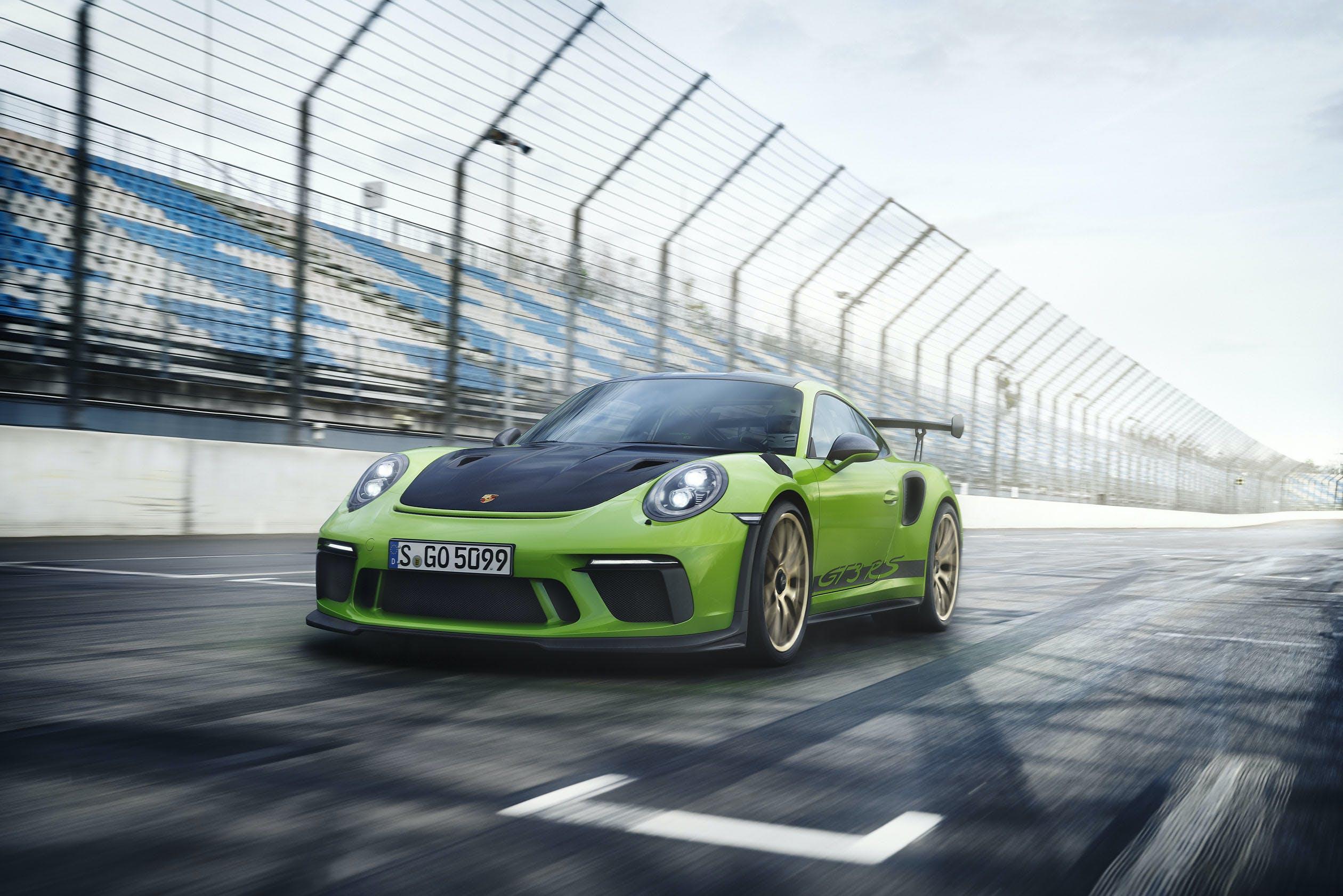 Porsche 911 GT3 RS verde autodromo