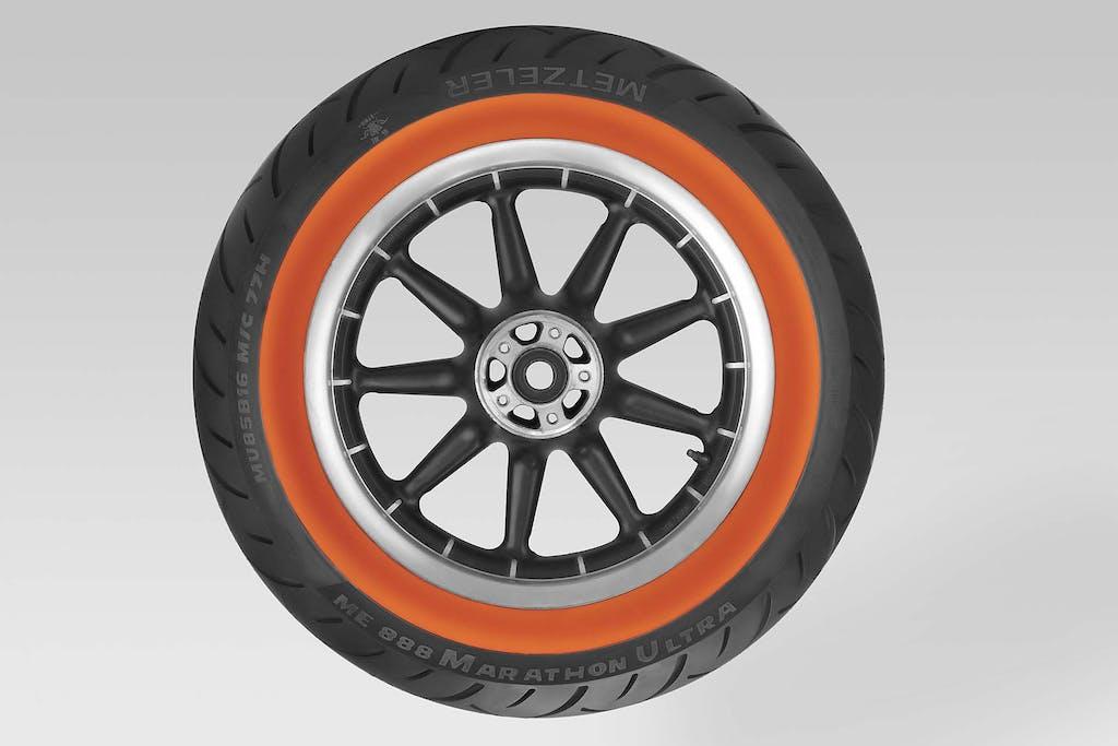 Metzeler ME 888 Marathon Ultra Orangewall: più colore al custom