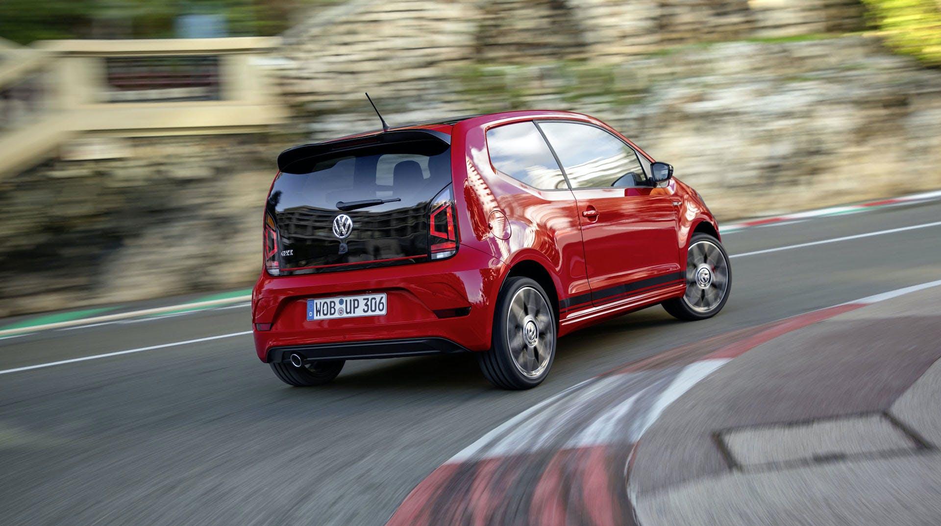 Volkswagen up! GTI Rossa Curva Cordolo
