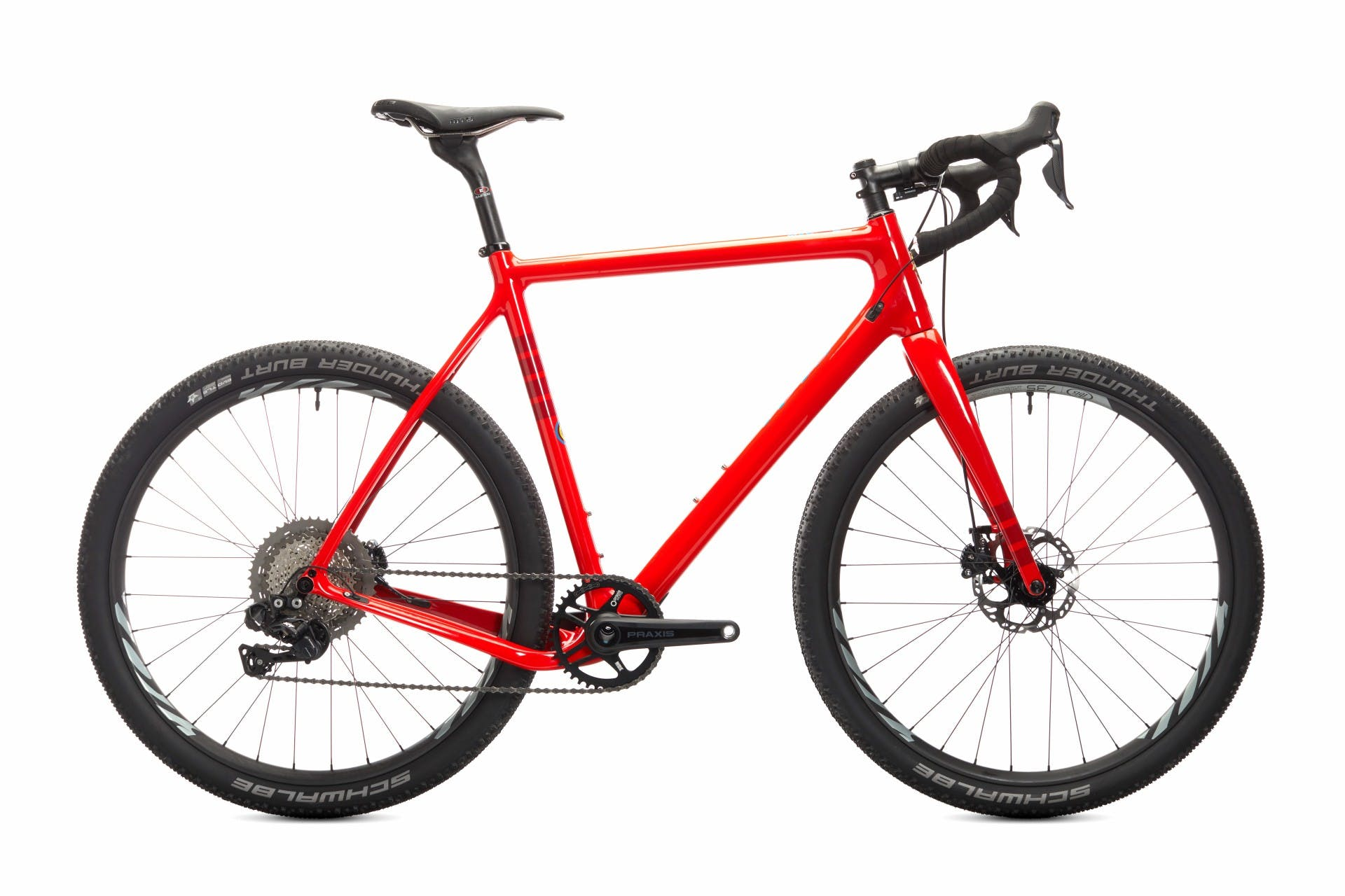 Bicicletta gravel Ibis Hakka MX rossa, vista laterale destra