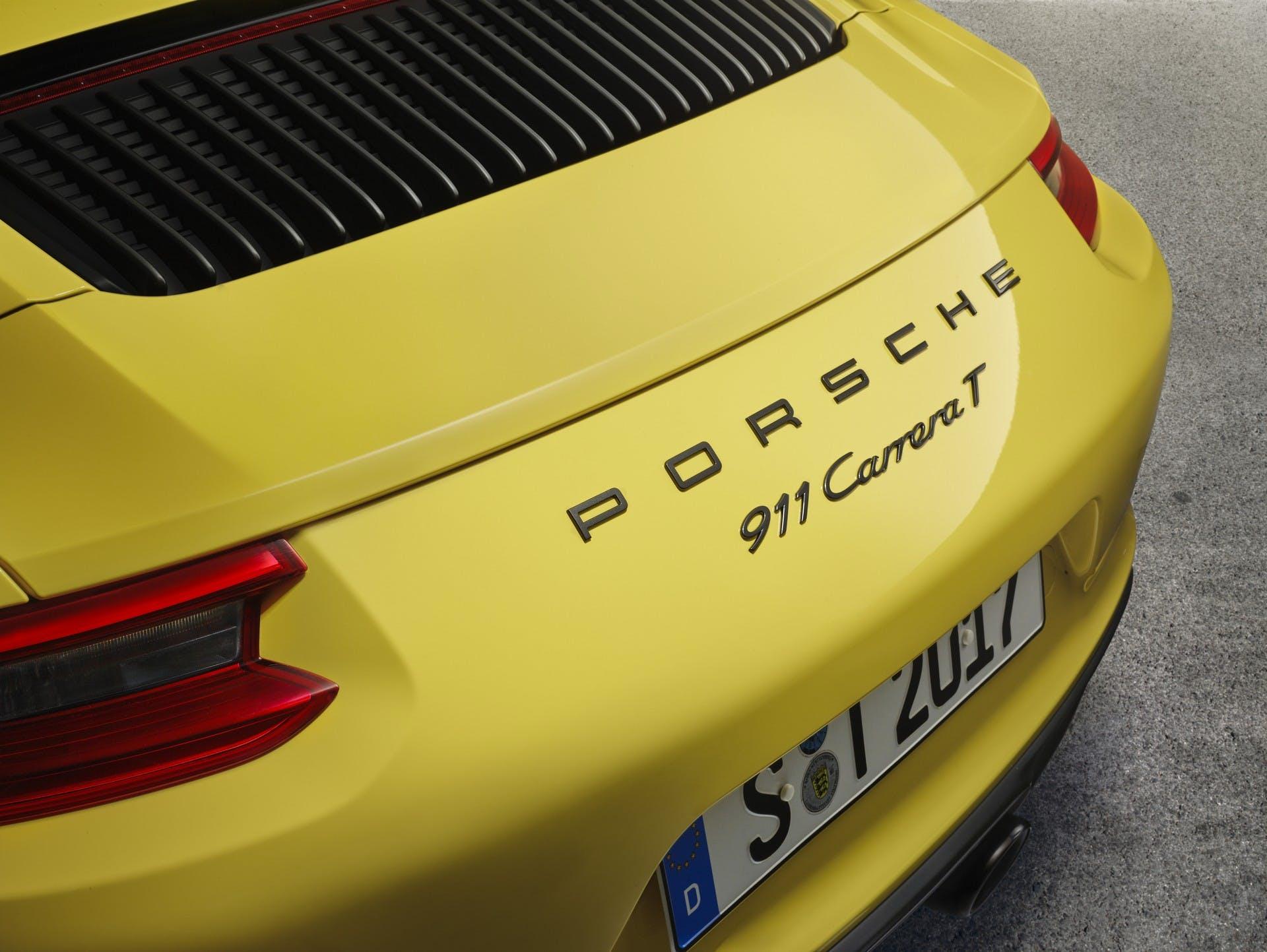 Porsche 911 Carrera T dettaglio