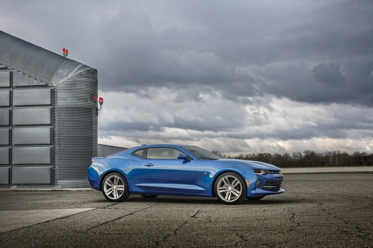 The all-new 2016 Chevrolet Camaro offers an all-new, fourth-generation 3.6L V-6 rated at an estimated 330 hp. It incorporates fuel-saving cylinder deactivation technology, along with direct injection, to balance performance with efficiency.
