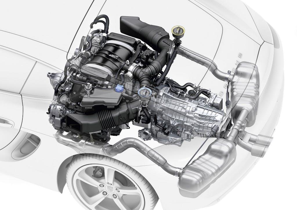 Porsche: 4 cilindri boxer per Boxster e Cayman