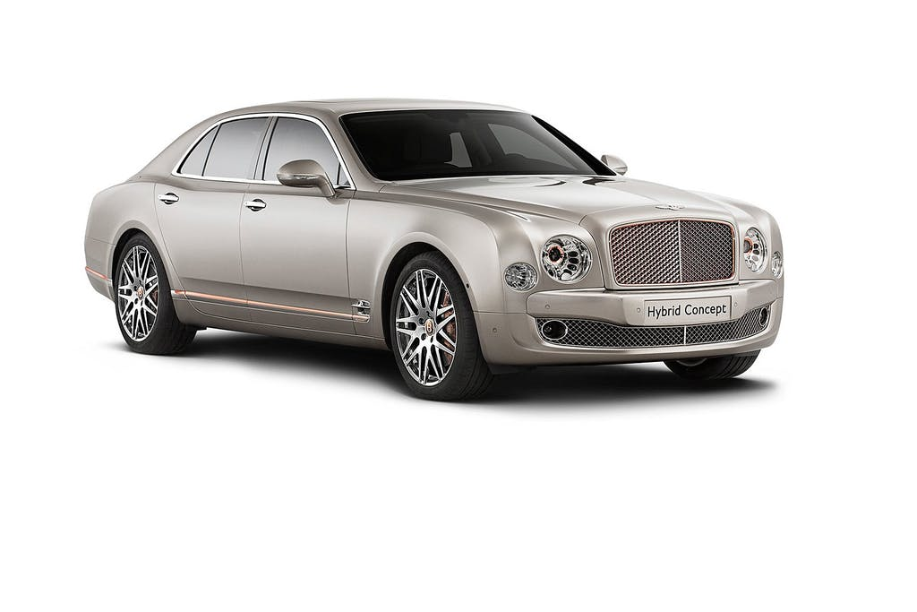 Bentley Mulsanne Hybrid: extra large in verde