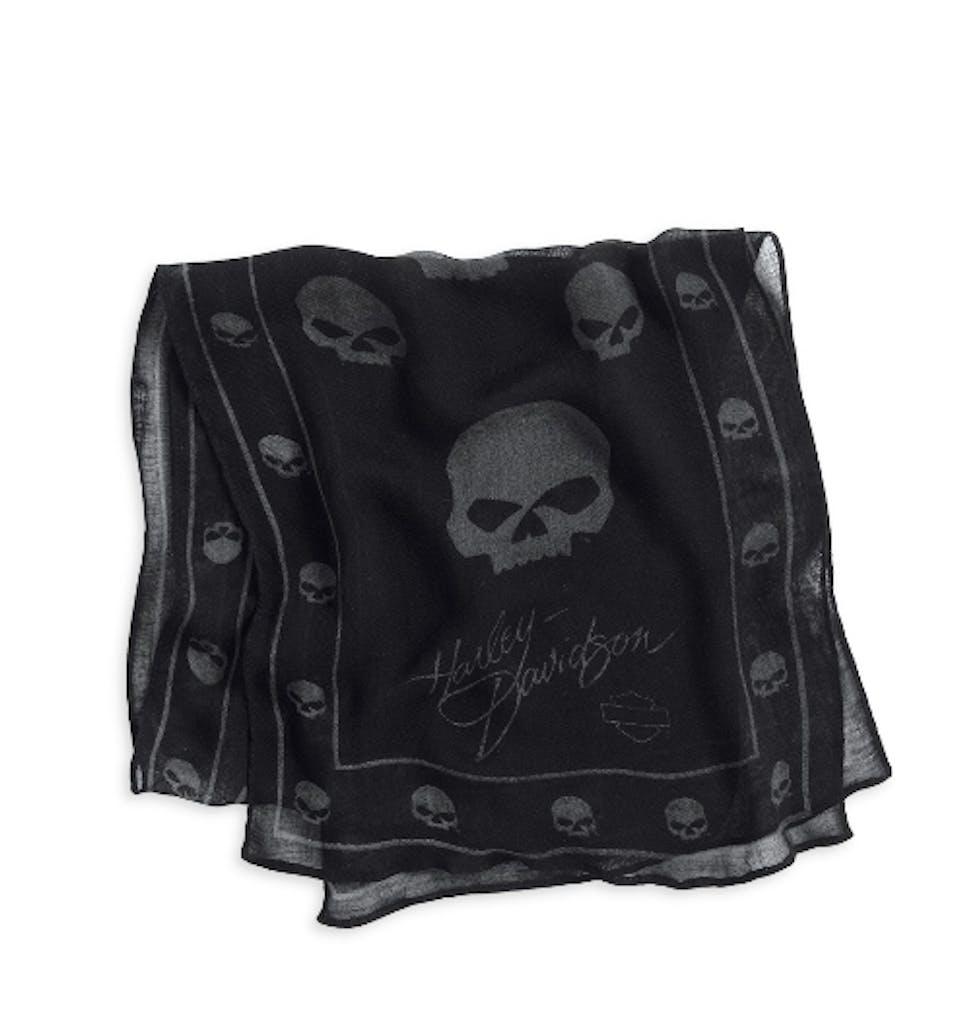 Harley-Davidson Allover Skull Print Scarf