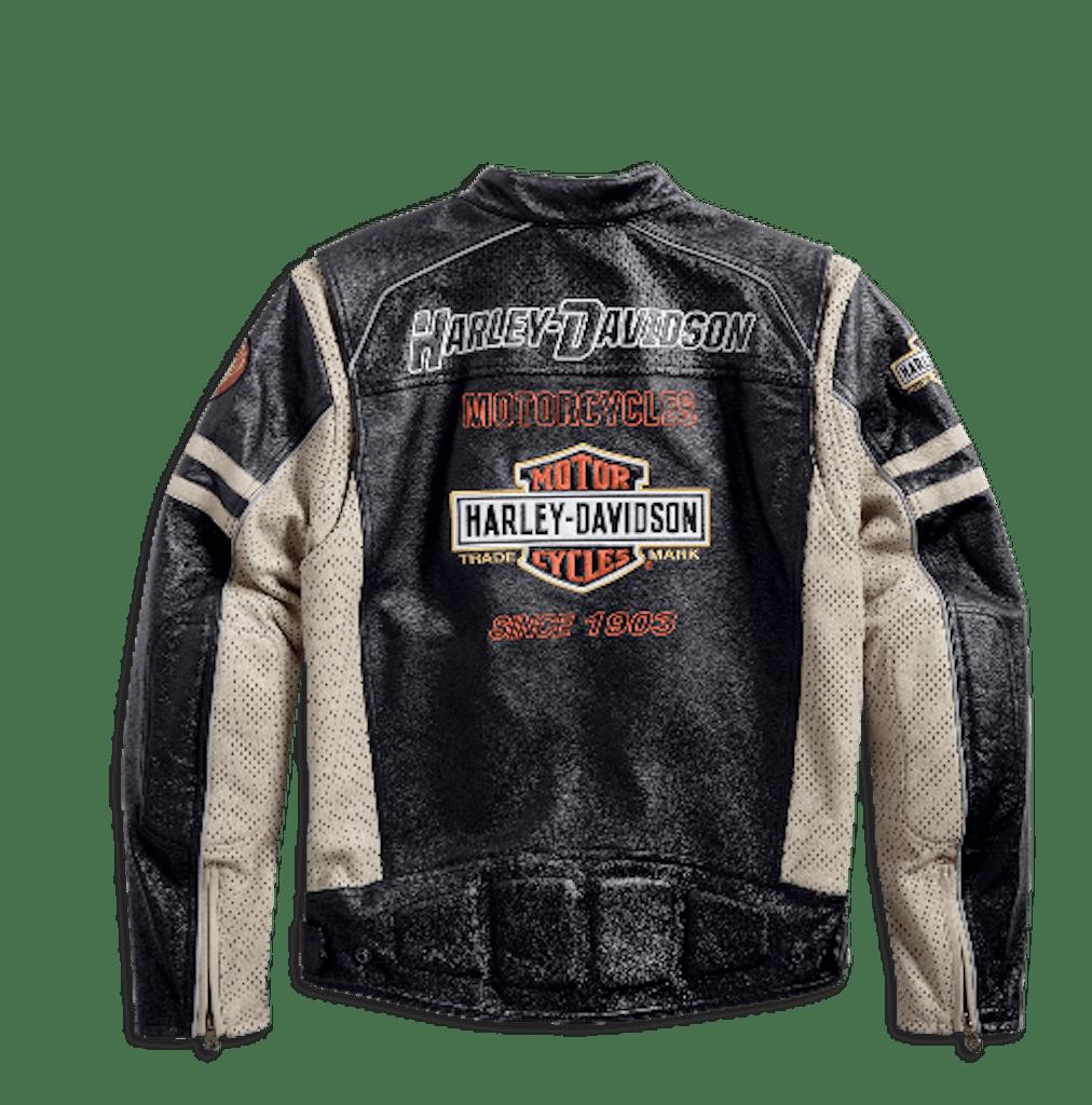 Harley-Davidson Gunnar Sport Colorblock Leather Jacket