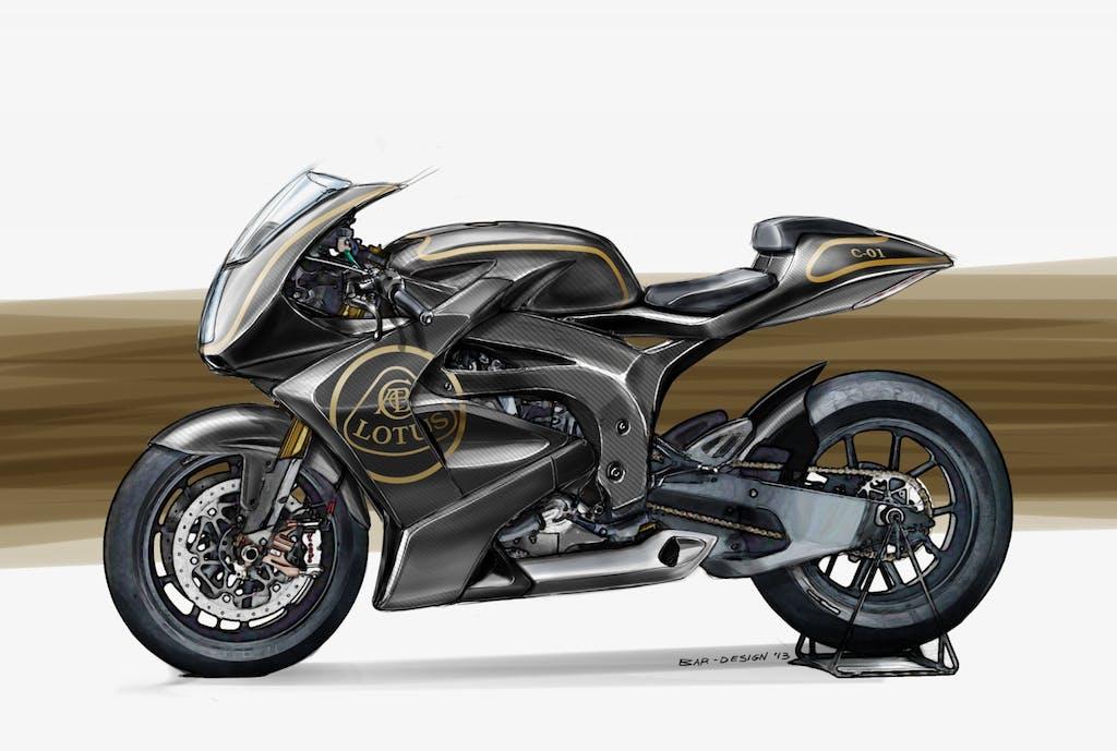 Lotus C-01, la moto di Colin