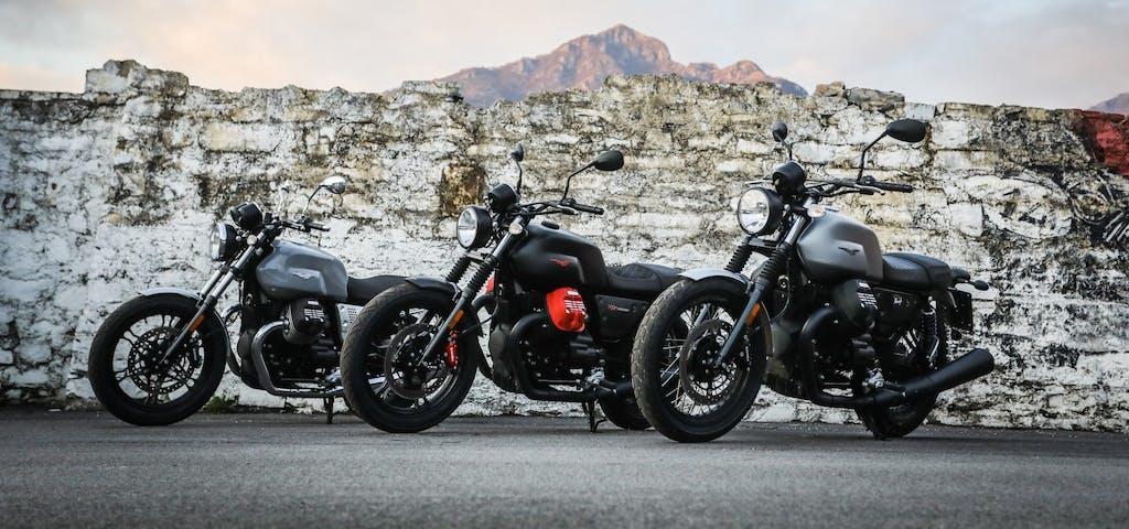 Prova Moto Guzzi V7 III Rough, Milano e Carbon