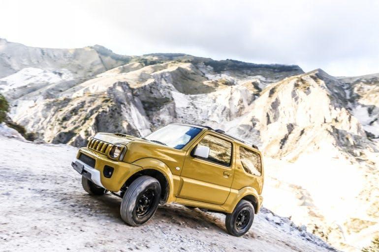 Suzuki Jimny Shinsei, foto azione in cava
