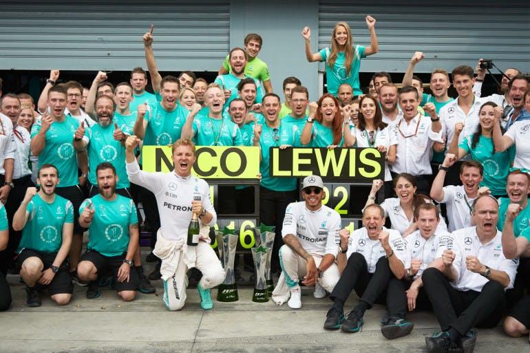 Formel 1 - MERCEDES AMG PETRONAS, Großer Preis von Italien 2016. Lewis Hamilton, Nico Rosberg ; Formula One - MERCEDES AMG PETRONAS, Italian GP 2016. Lewis Hamilton, Nico Rosberg;