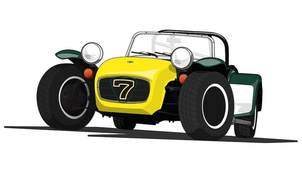 Lotus Seven: la moto a quattro ruote
