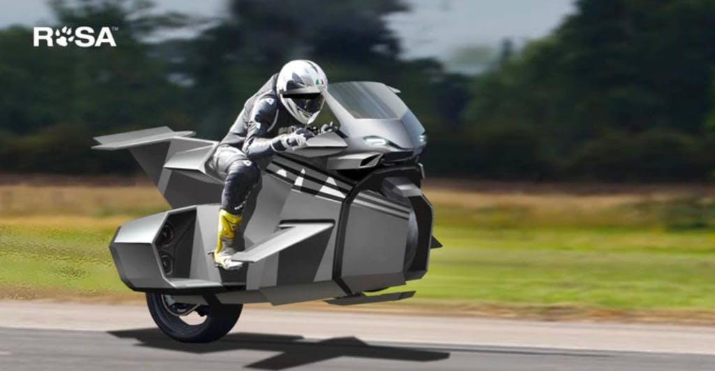 Kirby, la moto volante