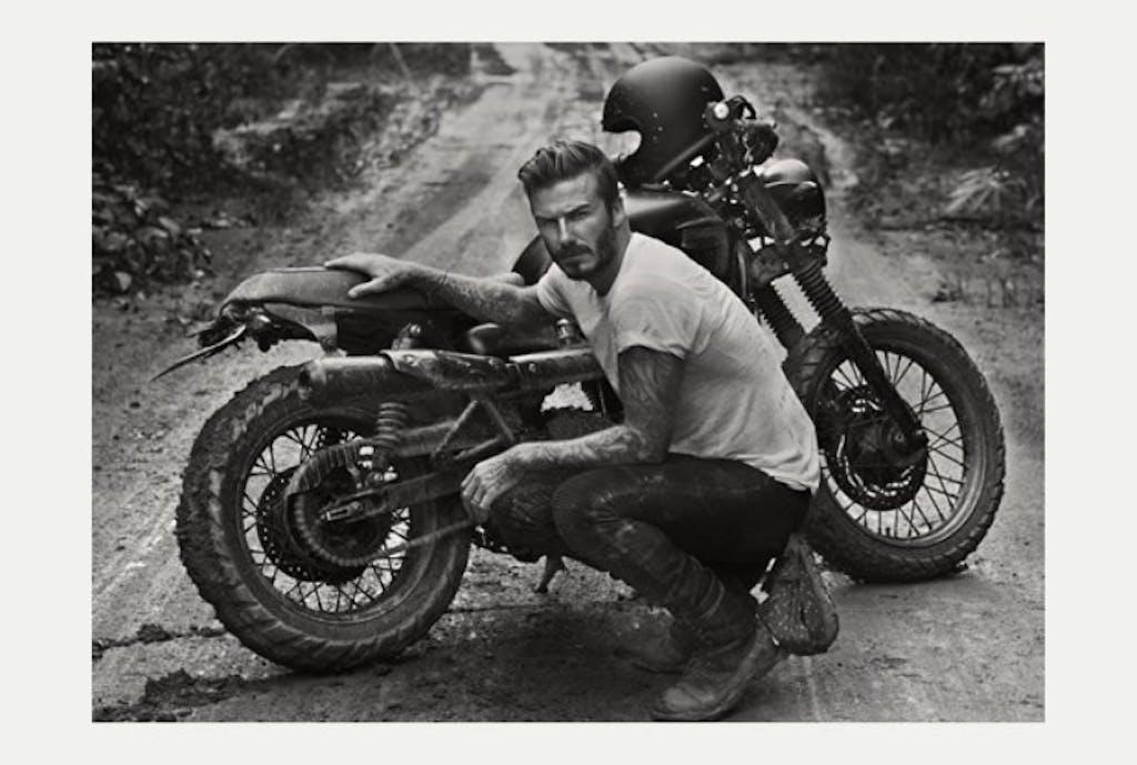 """La """"Brazilian Bonneville"""" di David Beckham"""