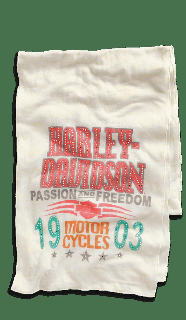 Harley-Davidson Embellished Allover Print Scarf