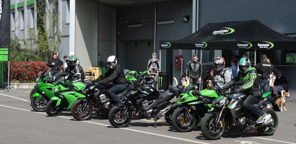 Kawasaki Demo Ride @ SBK Imola