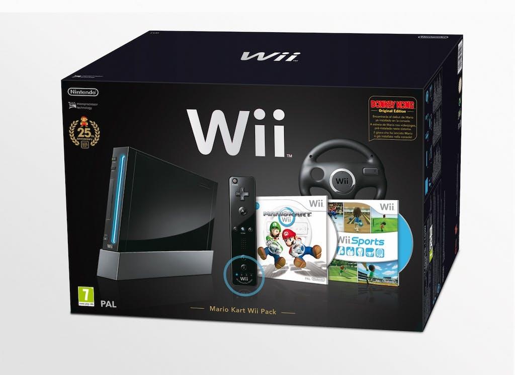 Nintendo Wii Mario Kart Pack Nero