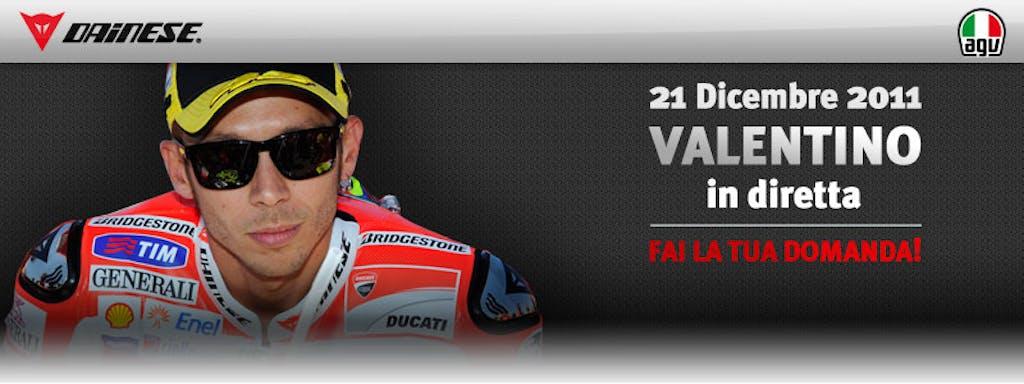 Valentino Rossi live su dainese.com