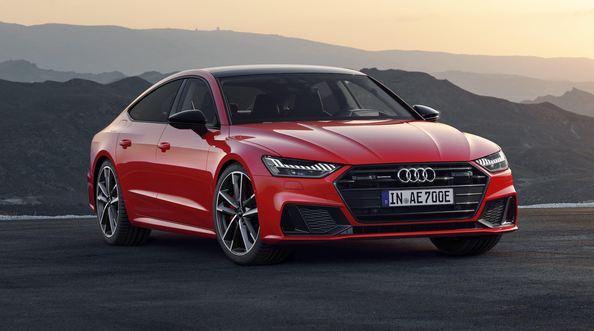 Audi A7 Sportback plug-in hybrid rosso 2019