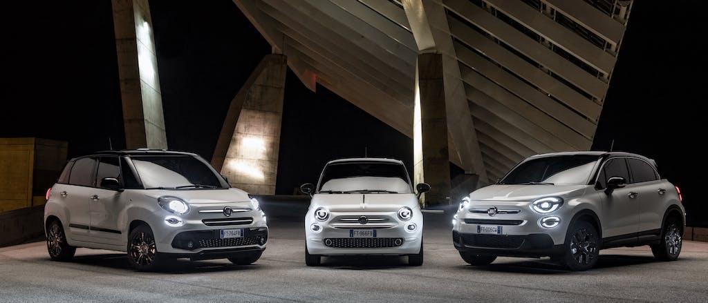 Fiat 500, 500X e 500L in smoking per i 120 anni