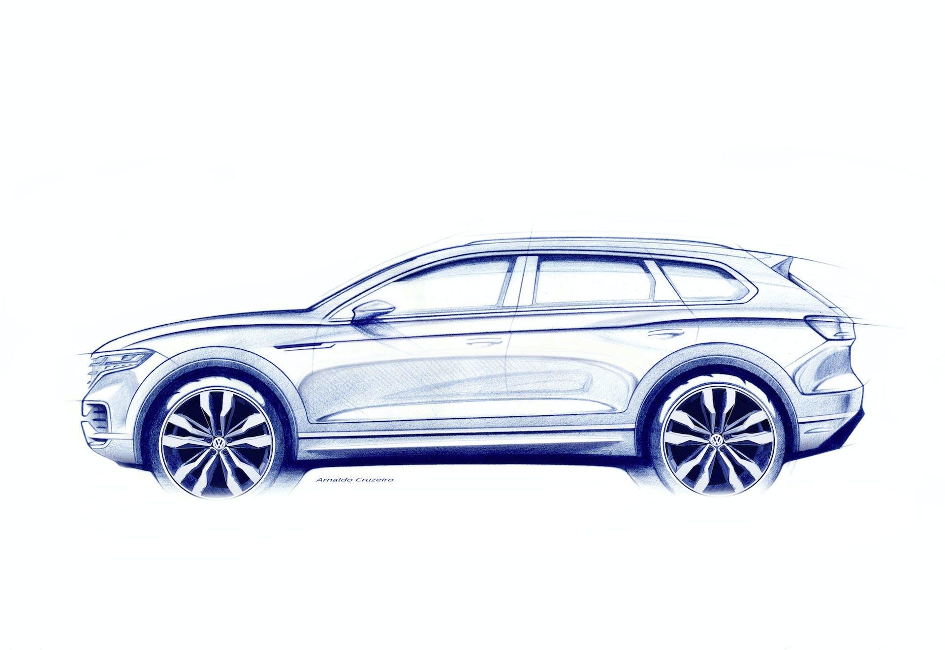 Nuova Volkswagen Touareg disegno sketch