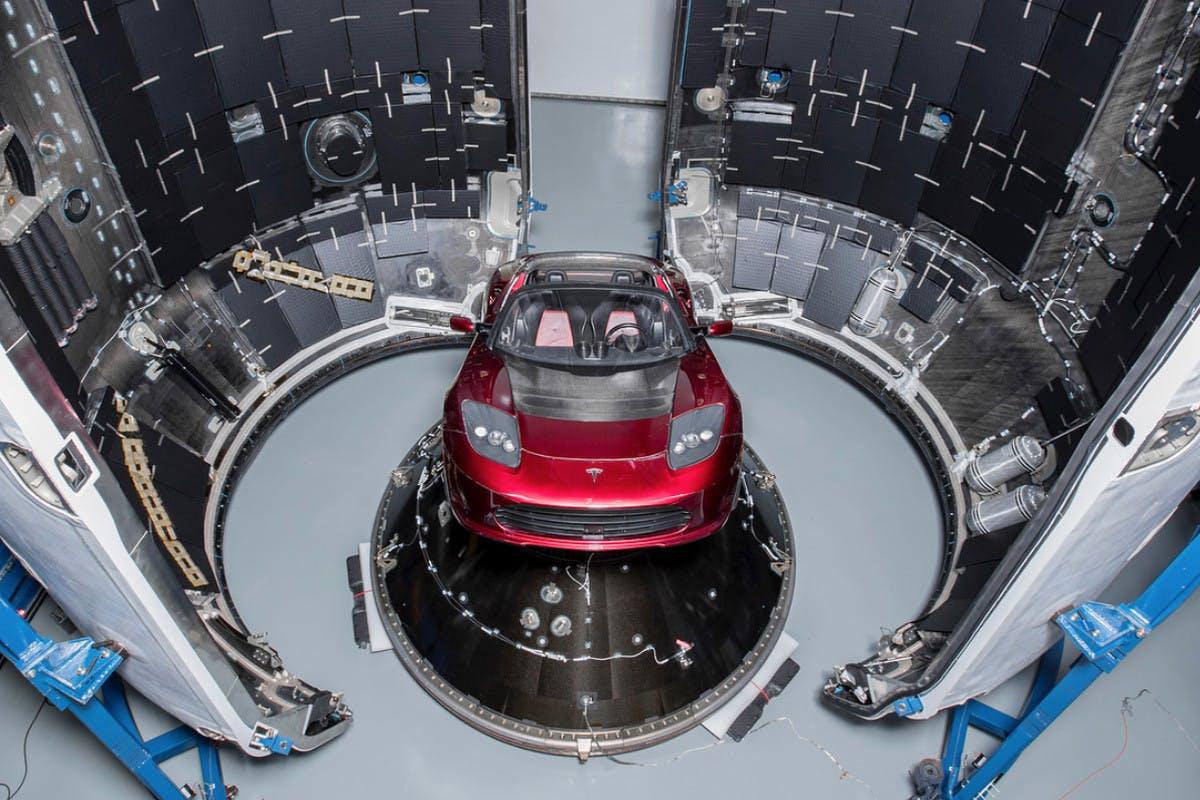 Tesla Roadster su Marte
