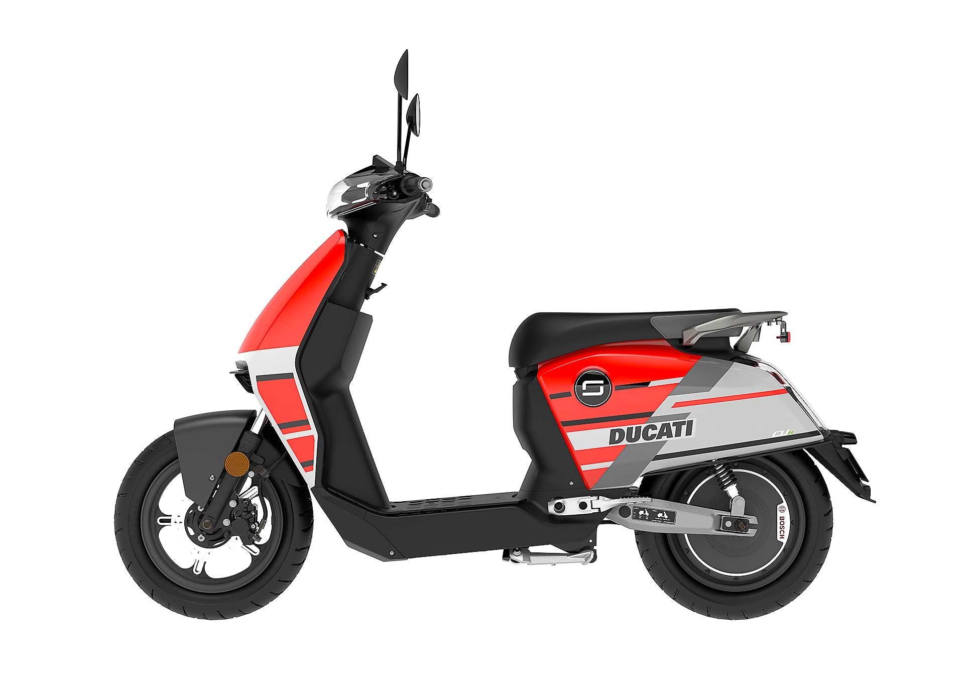Super Soco Ducati scooter CUX vista laterale