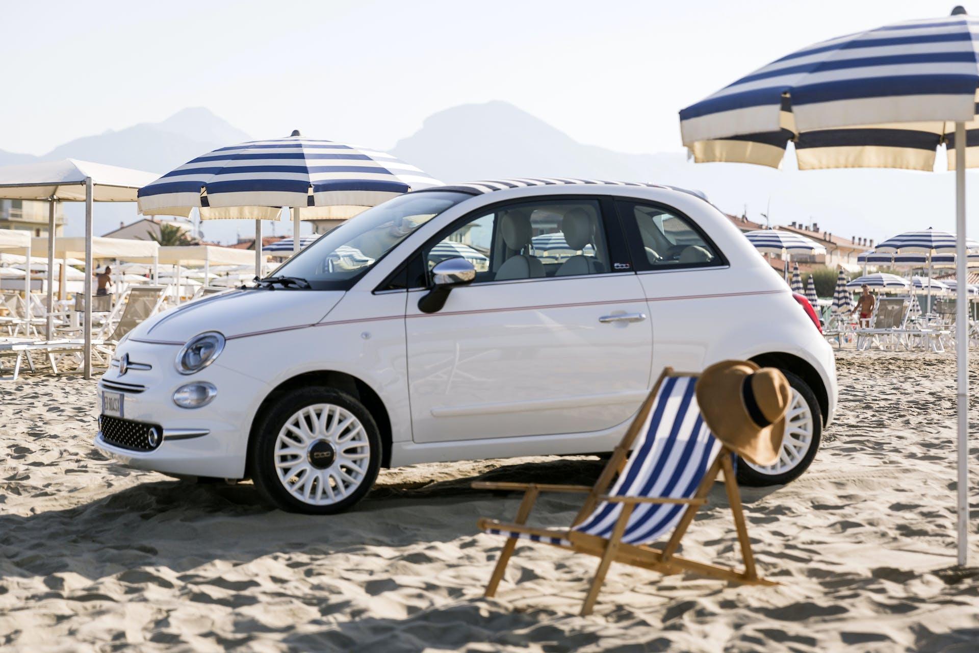 FIat 500 GPL in spiaggia