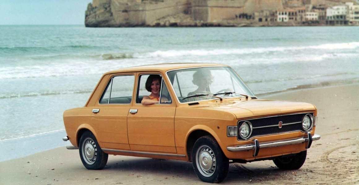 Fiat-128 arancione