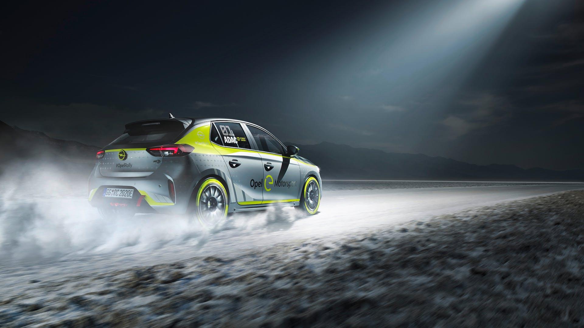 Opel Corsa-e Rally posteriore