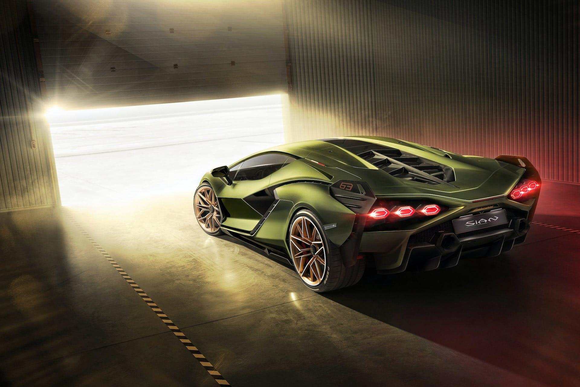 Lamborghini Siàn posteriore