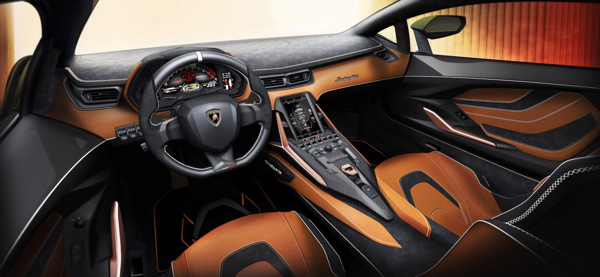 Lamborghini Siàn abitacolo