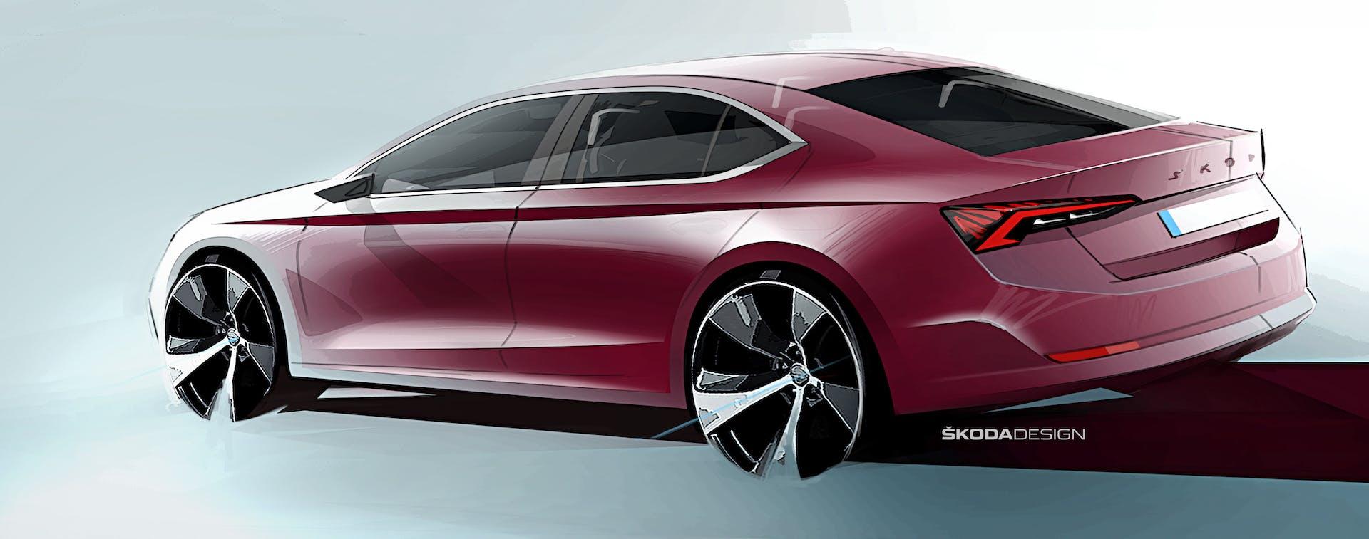 Nuova Skoda Octavia teaser posteriore
