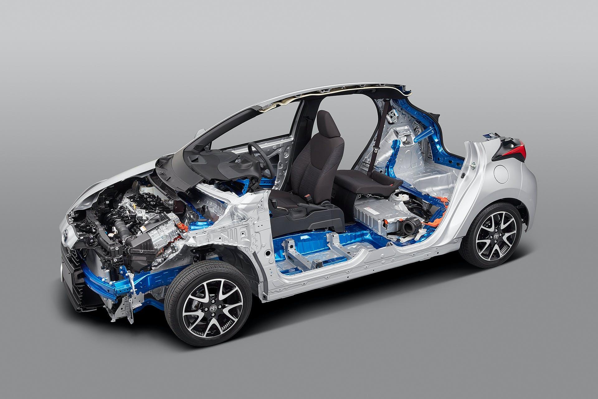 Nuova Toyota Yaris schema meccanico