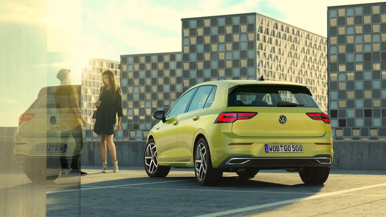 Nuova Volkswagen Golf 8 posteriore