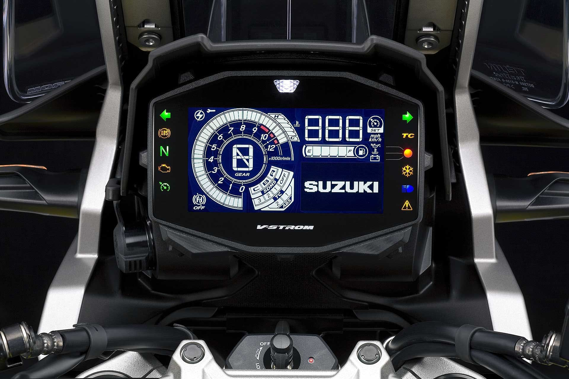 Suzuki V-Strom 1050 XT display