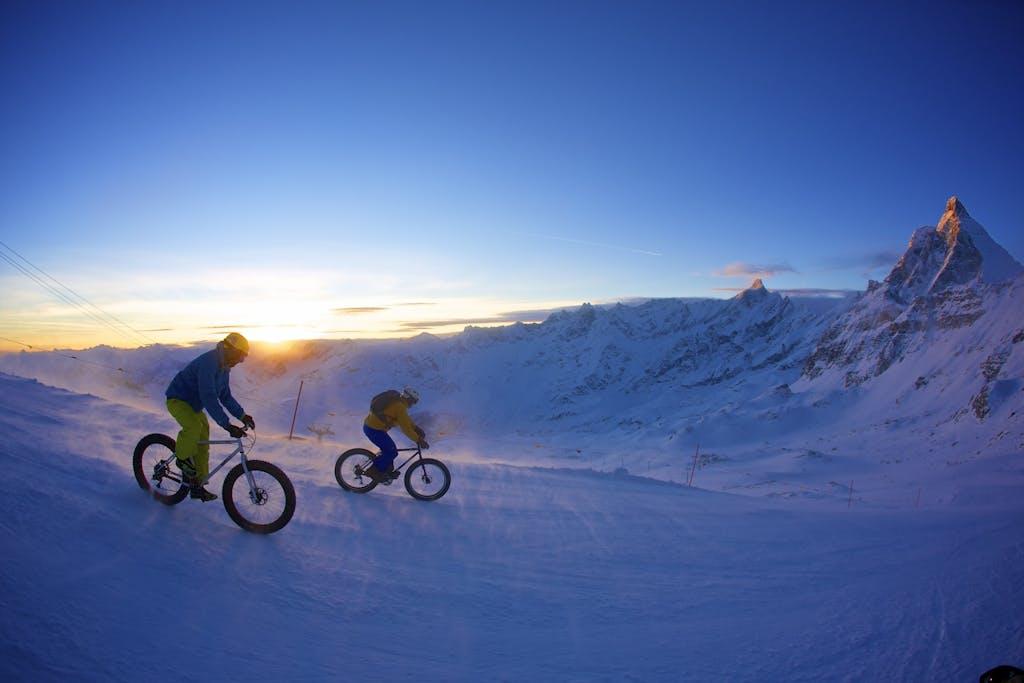 Snowbike del Cervino  10 chilometri di adrenalina