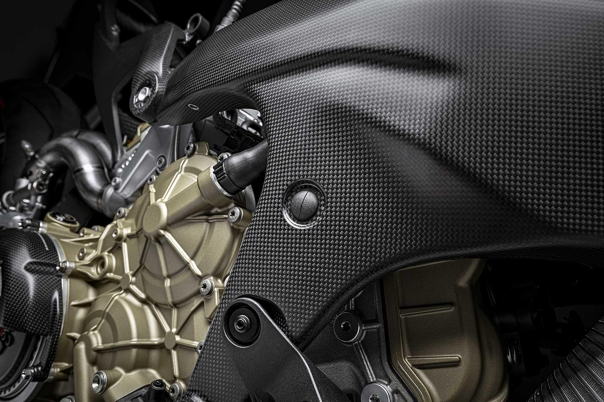 Ducati Superleggera V4 particolare telaio in carbonio