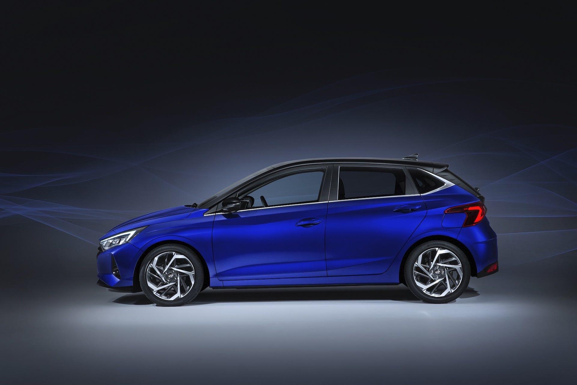 Nuova Hyundai i20 vista laterale