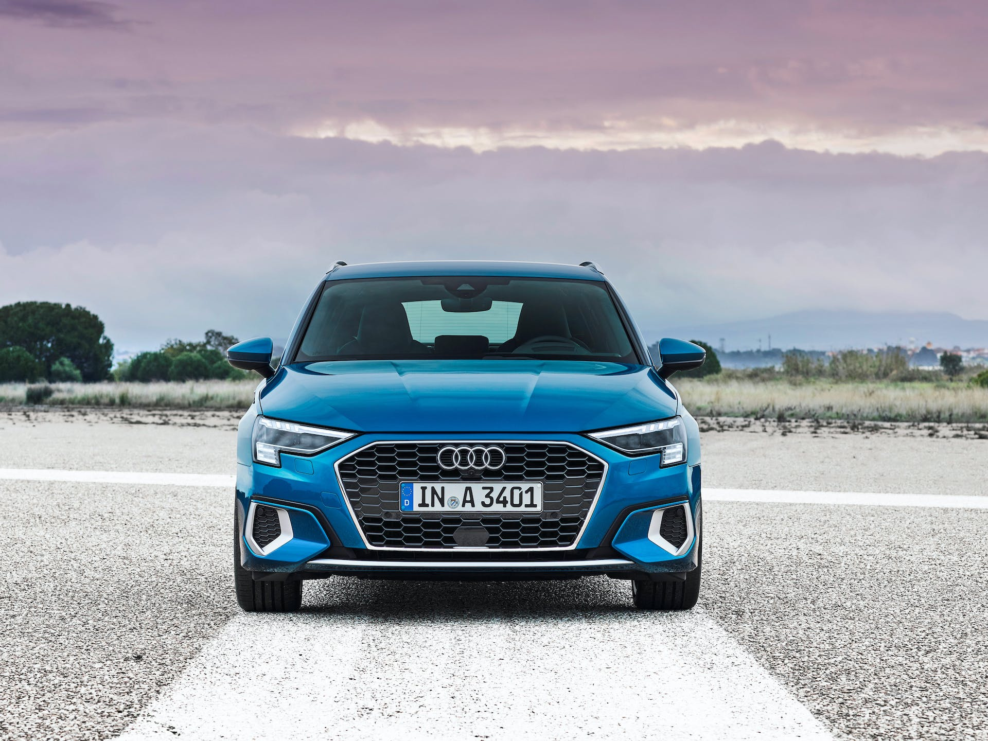 Nuova Audi A3 Sportback frontale pieno