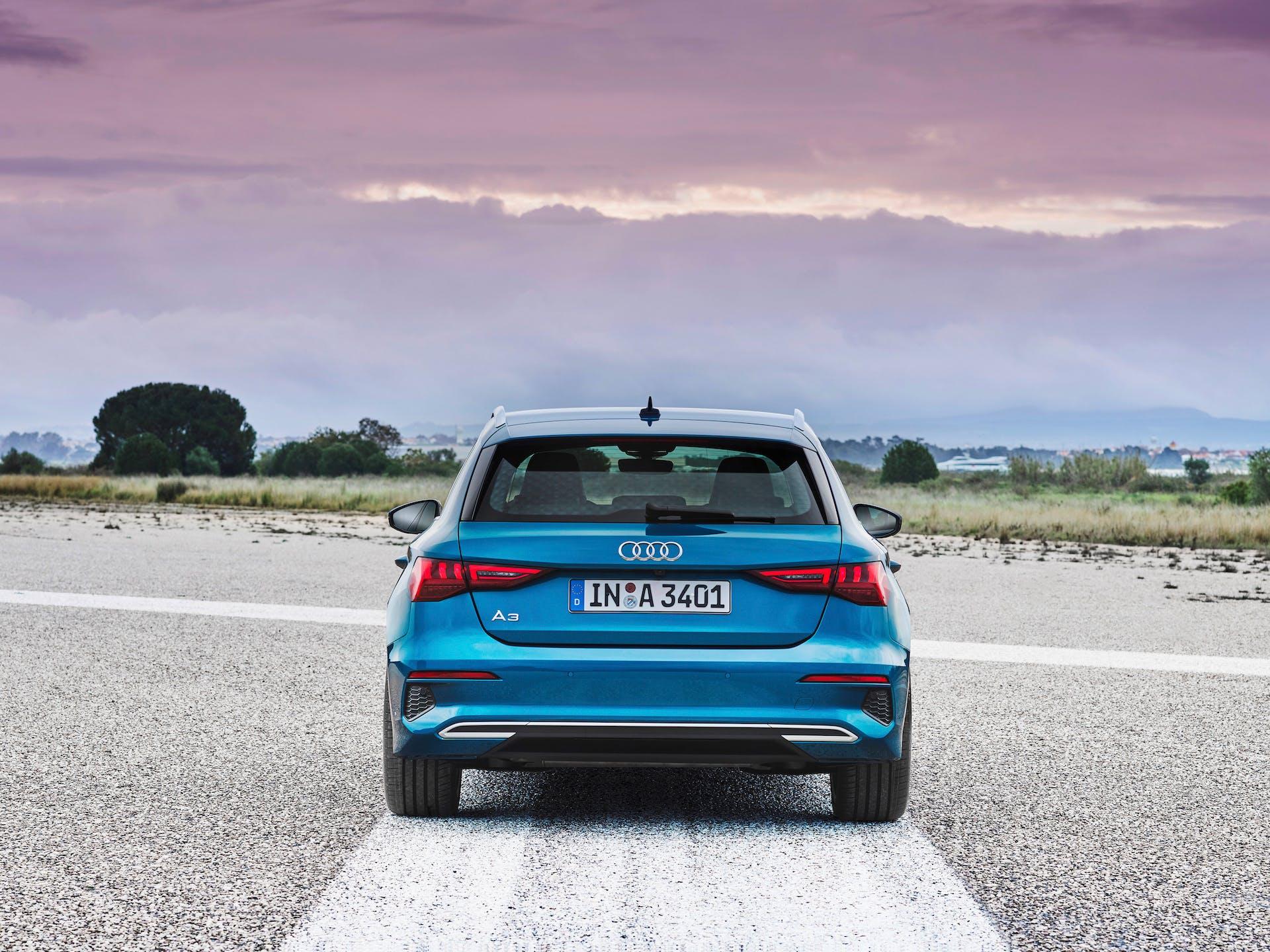 Nuova Audi A3 Sportback posteriore